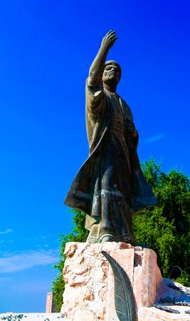 Iraqi poet Al-Mutanabbi Statue at the end of Mutanabbi Street in Baghdad, Iraq Editorial