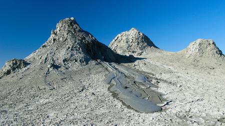 baku: Panorama view to mud volcanoes at Gobustan, Azerbaijan