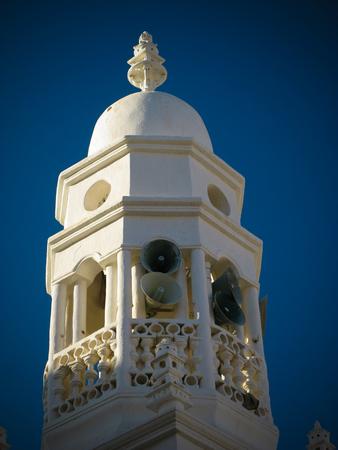 Exterior view of Al-Jama Mosque minater at Shibam, Hadhramaut, Yemen