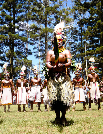 Participants of the Mount Hagen local tribe festival in Papua new Guinea