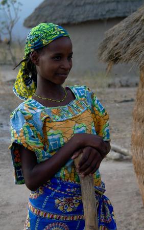 View to fulbe aka fulani tribe woman - 26-02-2014 Tchamba , Cameroon