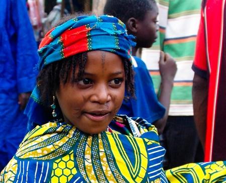 Portrait of tattooed Mbororo aka Wodaabe tribe woman - 01-03-2014 Poli, Cameroon Editorial