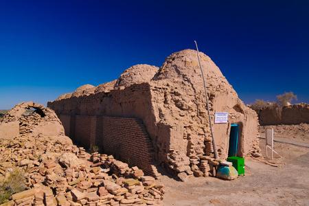 View to Shamun Nabi mausoleum in Mizdakhan at Khodjeyli, Karakalpakstan,uzbekistan Stock Photo