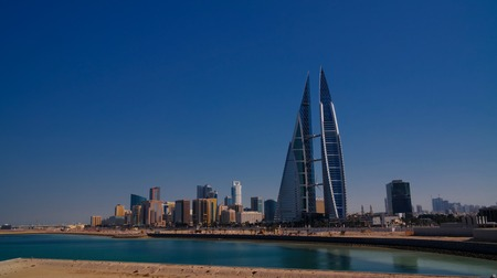 panorama cityscape view to Manama city in Bahrain