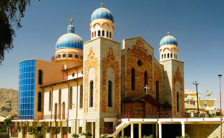 Exterior view to San Antonios Church in Keren, Eritrea
