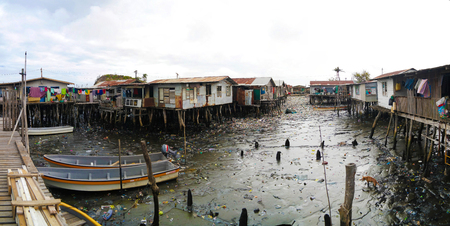 Slums at Hanuabada village at the outskirts of Port Moresby in Papua new Guinea Editorial