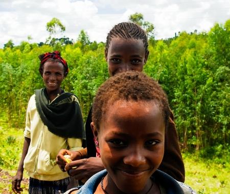 ethiopian ethnicity: Konso aka Xonsita tribe women in national dress - 03 october 2012 , Omo valley, Ethiopia Editorial