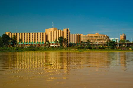 vista sul fiume Niger e la città di Niamey, Niger Archivio Fotografico