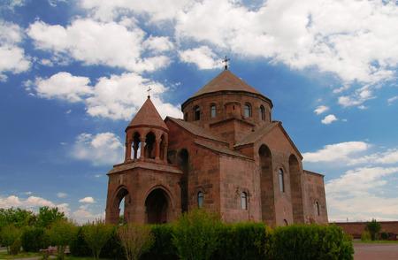 Exterior view to Saint Hripsime Church at Vagharshapat in Armavir Province, Armenia Stock Photo
