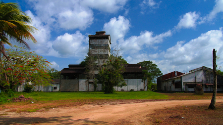Former rum factory at Marienburg at Suriname