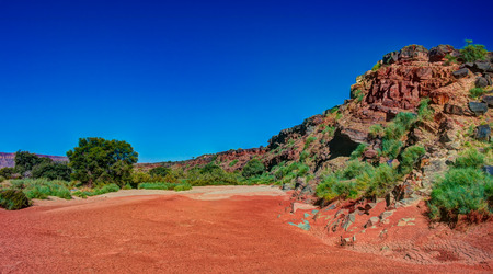 gamchab river bed in Gondwana Nature Park at Namibia Stock Photo