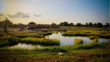 Panoramic view to Bkonni village of Hausa people near Tahoua, Niger