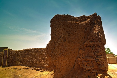 Ruins of ancient city wall in Zinder, Niger