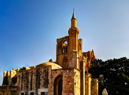 Exterior view to Lala Mustafa Pasa mosque, Famagusta, Cyprus