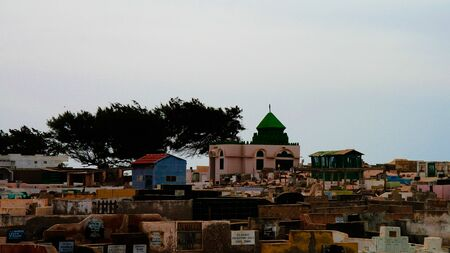 panorama view to muslim Cemetery - 16 November 2012 Saint-Louis, senegal