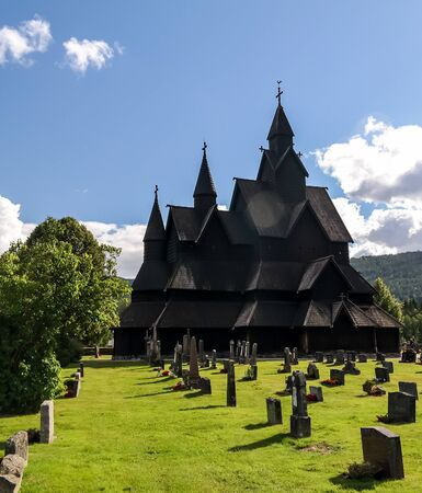 Heddal Stave Church, Norways largest stave church - 28 July 2017 Notodden municipality, Norway