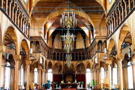 Interior view to Saint Peter and Paul Cathedral 08-05-2013 Paramaribo, Suriname 에디토리얼