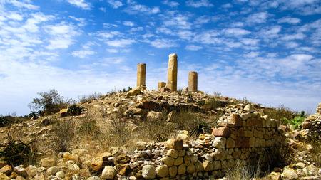 Ruined Temple of Mariam Wakino in Qohaito ancient city, Eritrea