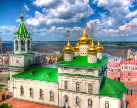 Exterior view to Church of St. John the Baptistat Nizhny Novgorod, Russia Stock Photo