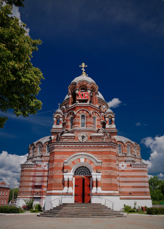 Exterior view to Church of the Holy Trinity in Shurovo at Kolomna, Moscow region, Russia 写真素材