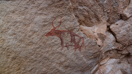 Cave paintings and petroglyphs in Tassili nAjjer national park in Algeria Imagens - 104307320