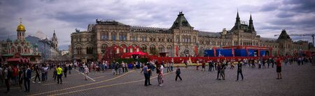 Football museum at Red Square in Moscow at FIFA football world cup - 21 June 2018, Moscow, Russia 에디토리얼