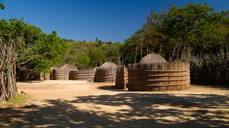 Traditional swati hut at the village near Manzini, Mbabane at Swaziland Stock Photo - 105687723
