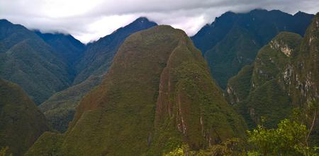 Panoramic view to Machu Picchu archaeological site with Polygonal masonry in Cuzco, Peru Reklamní fotografie