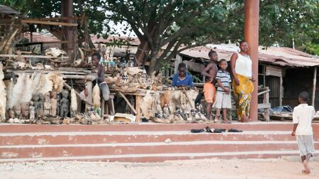 At the Woodoo market in Ouidah, Benin