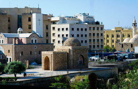 Exterior view to Al Nourieh Lady of the Light Shrine in Beirut, Lebanon