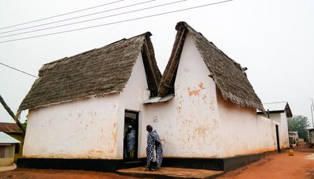 View to Besease Traditional Asante Shrine at Ejisu, Kumasi, Ghana