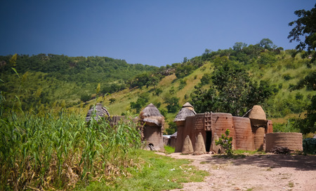 Traditional Tammari people village of Tamberma at Koutammakou, the Land of the Batammariba in Kara region, Togo