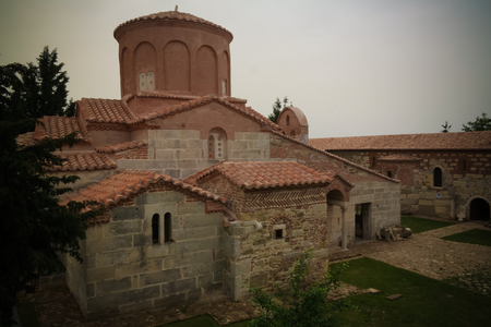 Exterior view to Church of Saint Mary in Apollonia near Fier, Albania 写真素材