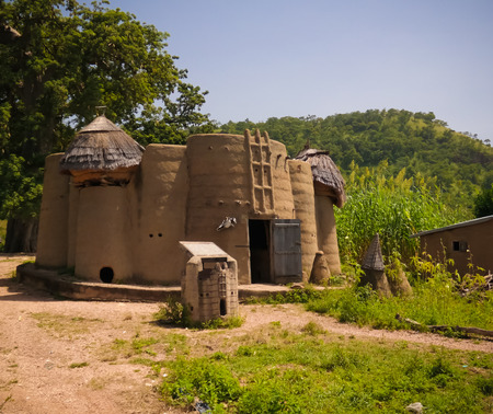 Traditional Tammari people village of Tamberma at Koutammakou, the Land of the Batammariba in Kara region, Togo