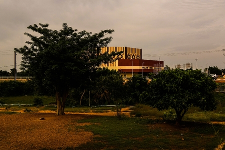 exterior view to Palace de Congress in Niamey, Niger