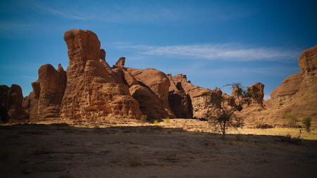 Abstract Rock formation at plateau Ennedi, Chad