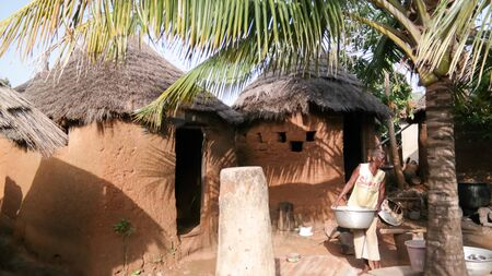 Traditional Losso aka Nawdba people village - 04 November 2015 Doufelgou, Kara region, Togo Sajtókép