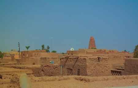Exterior aerial view to Grand mosque of Agadez , Niger Imagens