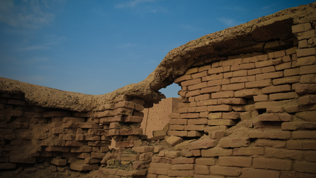 ruined wall of king palace in Ur, Dhi Qar, Iraq