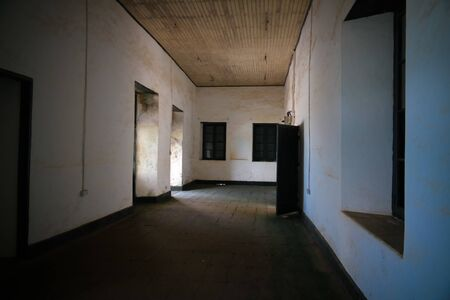 Interior view to Elmina castle and fortress 09 november 2015 Ghana 에디토리얼