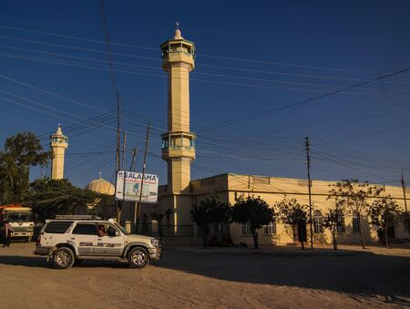 Mosque in Hargeisa, biggest city of Somaliland - 09 January 2016 Somalia 에디토리얼