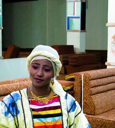 Portrait of the woman dancer of traditional yemeni dance - 16 november 2009 Sanaa, Yemen