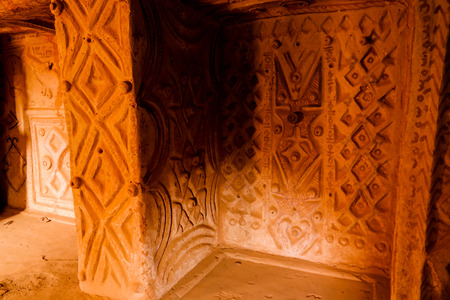 Interior view to traditional old bakery in Agadez, Niger