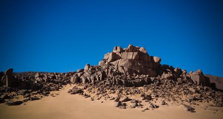 desert landscape El Berdj canyon in Tassili NAjjer National Park in Algeria