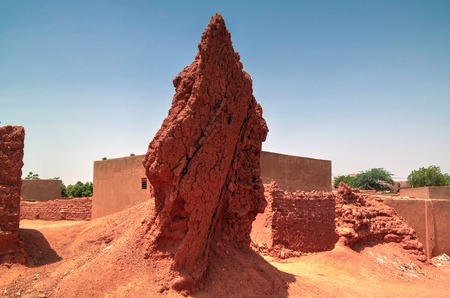 Ruins of ancient city wall in Zinder, Niger Stock Photo