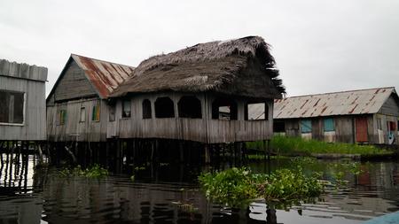 Stilt houses in the village of Ganvie Tofinu people on the Nokoue lake in Benin