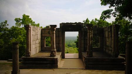 View to citadel of Yapahuwa , an old capital of Sri-Lanka