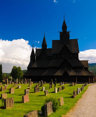 Heddal Stave Church, Norways largest stave church, Notodden municipality, Norway Stock Photo