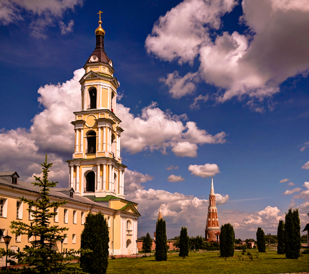 View to Church of the Presentation of the Blessed Virgin in the Temple in Epiphany Staro-Golutvin cloister at Kolomna, Moscow region, Russia