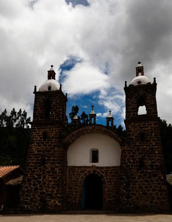 exterior view to church of Raqchi at Cuzco, Peru 写真素材